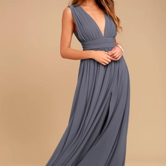 e72566fbbf Lulu s Dresses   Skirts - LULU s Heavenly Hues Denim Blue Maxi Dress